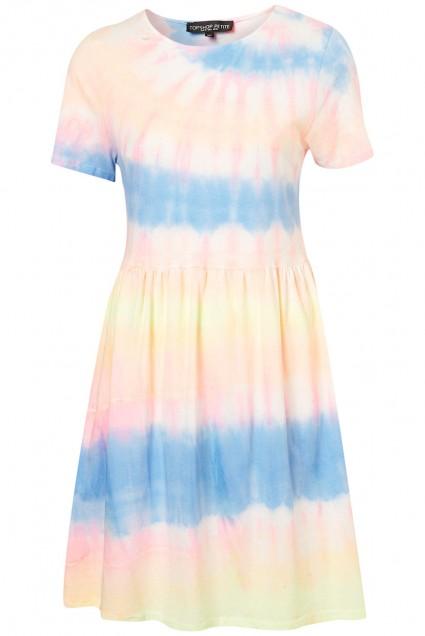 Petite Rainbow Tie Dye Dress