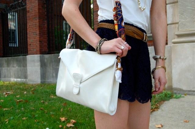 scarf handbag