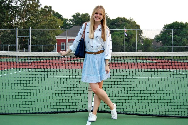 preppy tennis outfit
