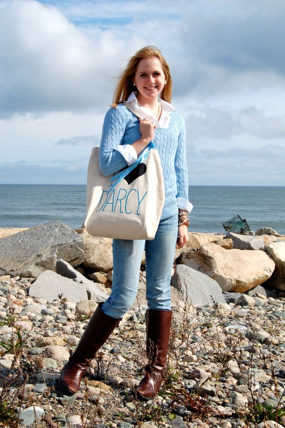 preppy fall beach outfit