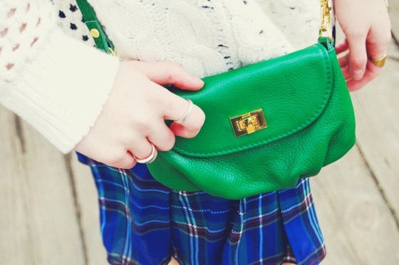 kelly green leather purse