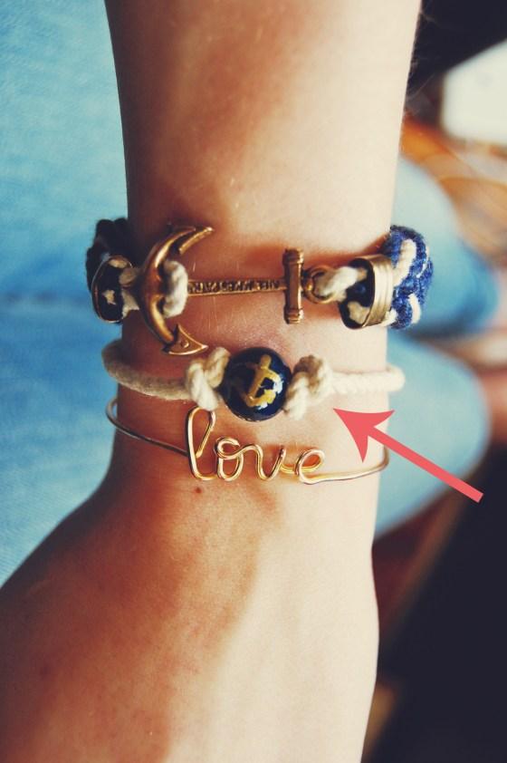 anchor rope bracelet