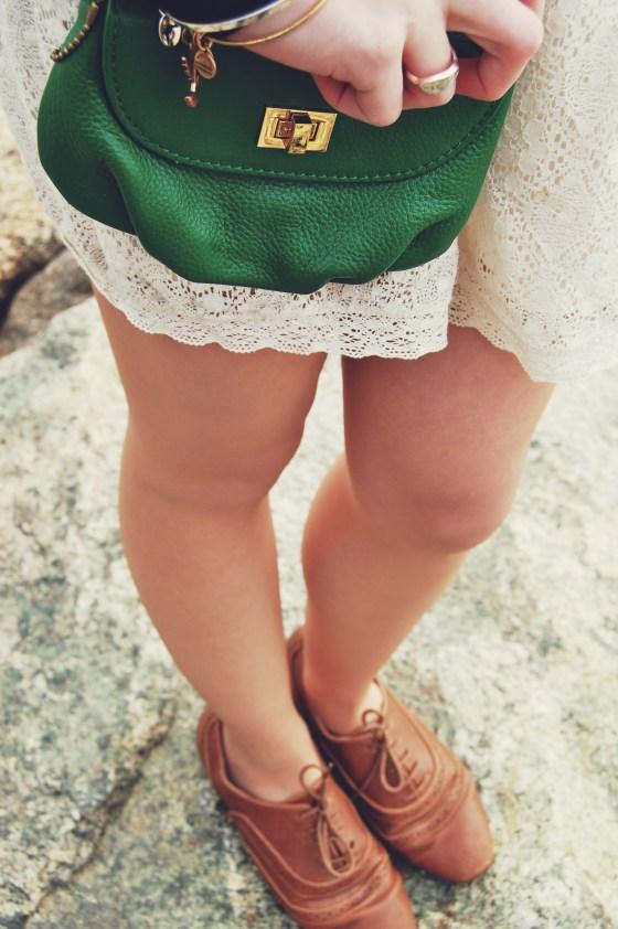 kelly green purse
