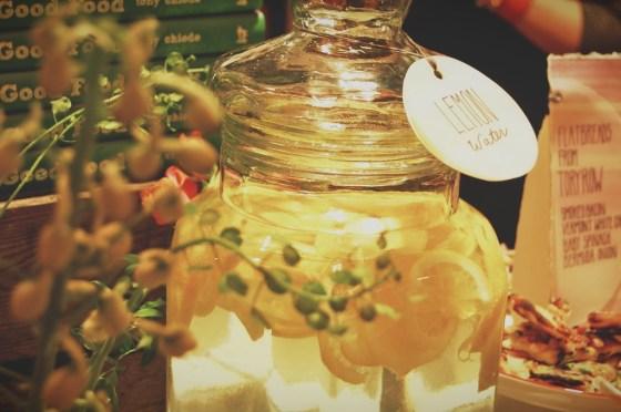 rustic lemonade jug