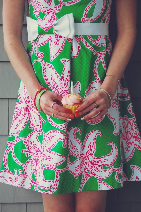 pink green starfish dress