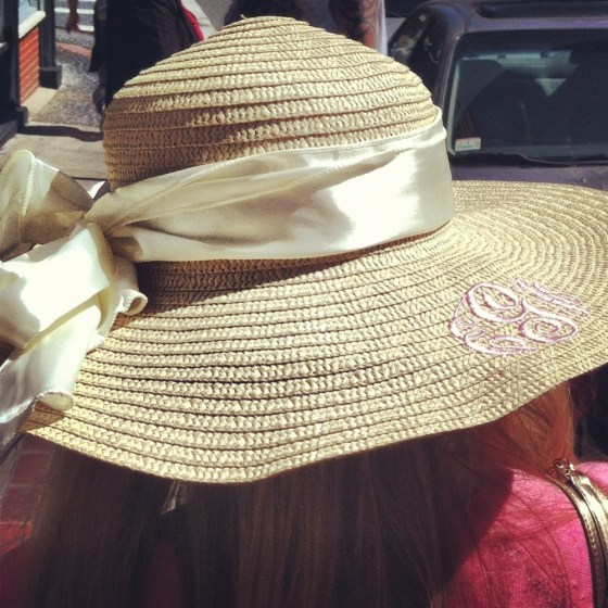 marley lilly monogram hat