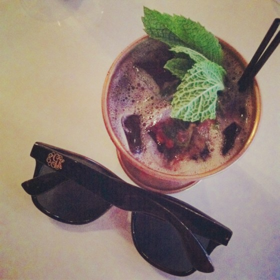 raspberry mint julep