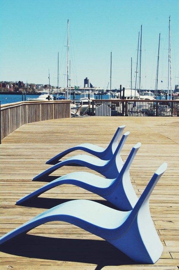 blue chairs boston harbor