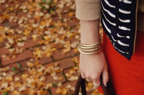 monogrammed gold rope bracelet