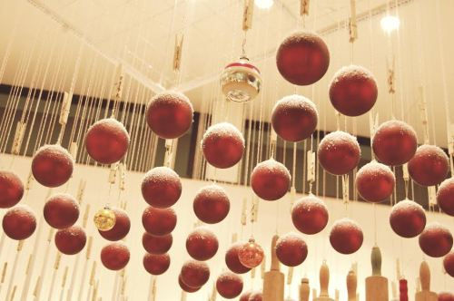 hanging glass baubles