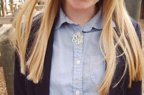 Onecklace Gold Monogrammed Necklace
