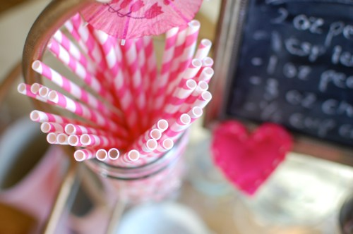 Pink Striped Straws