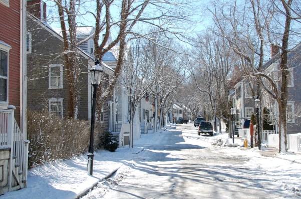 Nantucket Snowy Streets