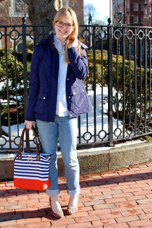 Navy Quilted Jacket