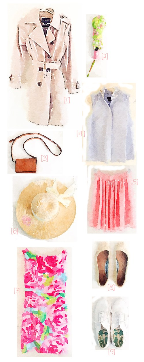 Watercolor Spring Wardrobe