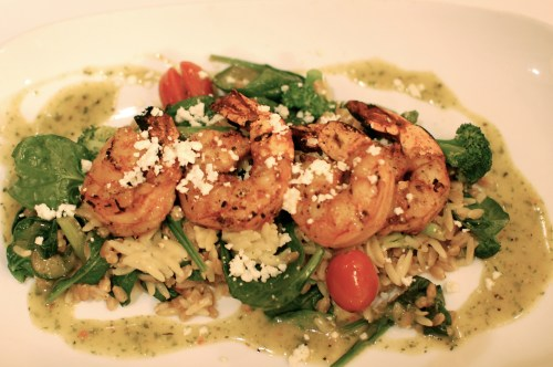 Shrimp Mediterranean with Risotto