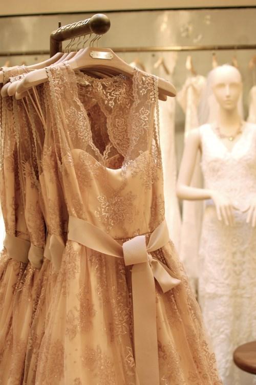 BHLDN Pink Lace Dress