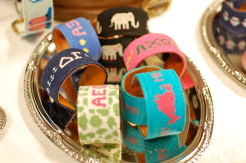 Preppy Monogrammed Cuff Bracelets