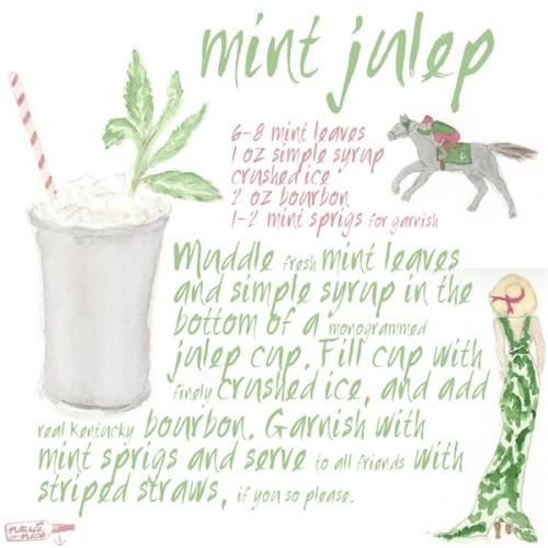 Mint Julep Painting // copyright nauti or nice
