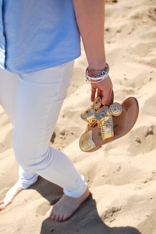 Metallic Gold Jack Rogers Sandals