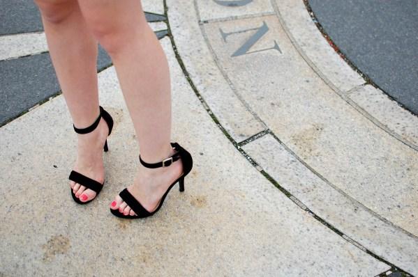 LC Lauren Conrad Black Strappy Heels