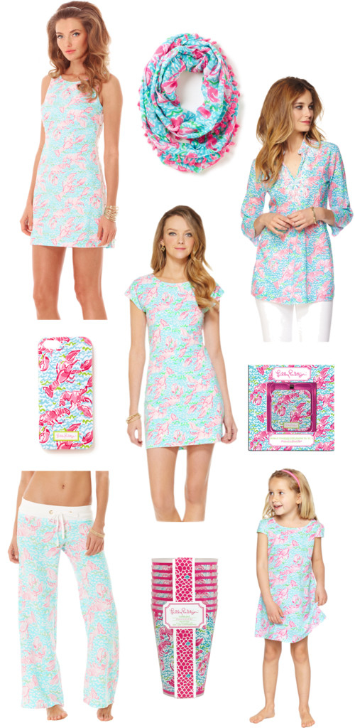 Lilly Pulitzer Lobstah Roll Lobster Print