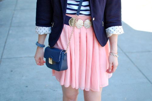 Seashell Belt | Pink Chiffon Skirt