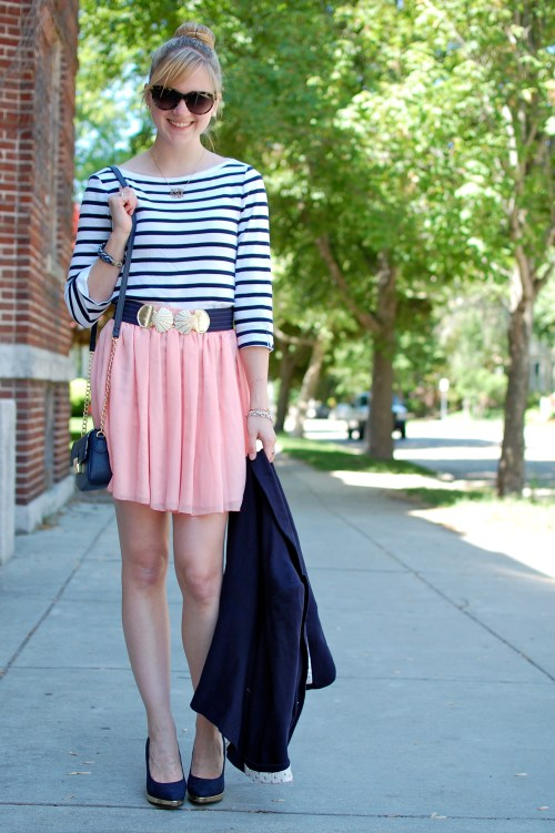 Nautical Pink and Navy