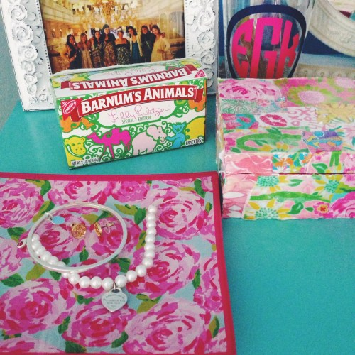 Lilly Pulitzer Tray; Animal Crackers, Box