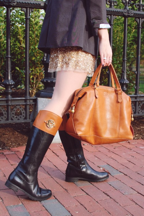 Black / Tan Riding Boots