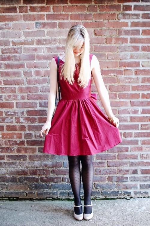 Lauren James Red/Crimson Emerson Dress