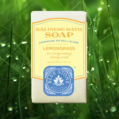 blue stone lemongrass soap