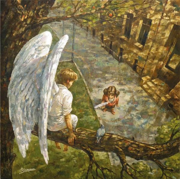 Ангел на дереве