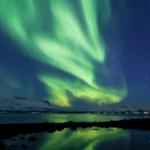 Северное сияние над Тромсо (Норвегия)