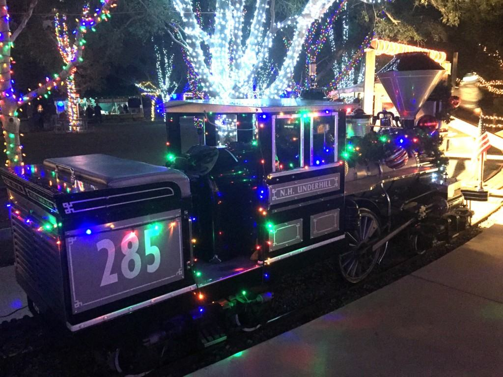 Ride the Irvine Park Railroad Christmas Train with your family. Meet Santa Claus at the North Pole and enjoy the beautiful light display.