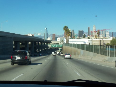 The 110 East through Downtown Los Angeles