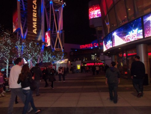 Photo shot during the holidays at LA Live. Copyright 2012 Donna Schwartz Mills