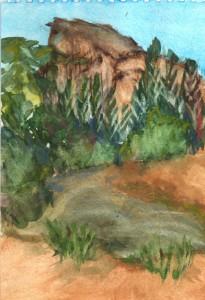 Yosemite Watercolor