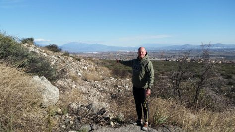 Out in Rancho Cucamonga inspecting the Sierra Madre Fault.