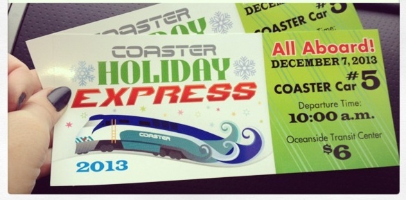 Coaster Holiday Express!  Ride the train with Santa!
