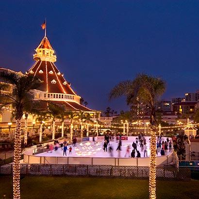 hotel del ice skating