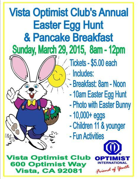 Vista Easter Egg Hunt 03.29.15 - Flyer