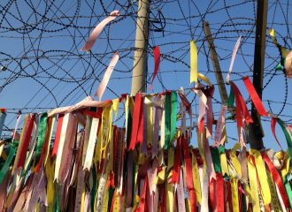 Catholic Social Teaching Asia Pacific page feature image - prayers at the Korean border