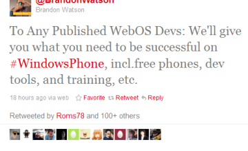 Microsoft is courting webOS developers for Windows Phone.