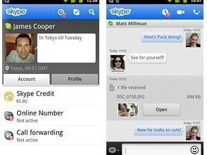 Skype For Android Updated, Now Sends Files - Skype for Android, Skype 2.6 for Android, Motorola Droid 4