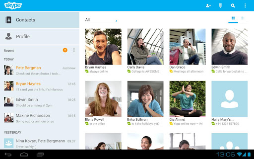 Skype for Android 3.0 Adds Support for Tablets