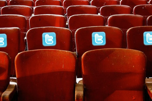 Guthrie Theater has tweet seats where people sitting there are encouraged to use Twitter to comment about the performances being shown. (Image: via arstechnica.com)