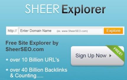 sheerexplorer home page