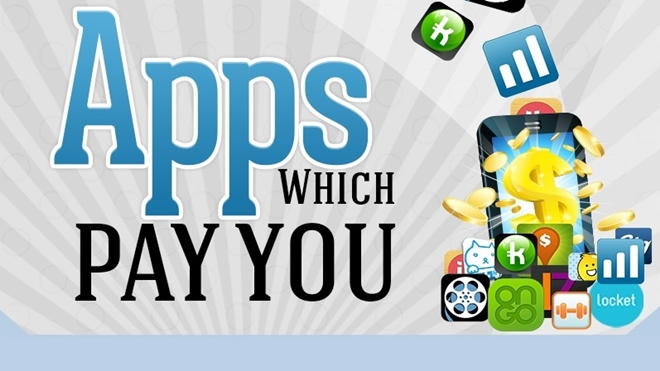 Apps That Pay You, infographic, money,