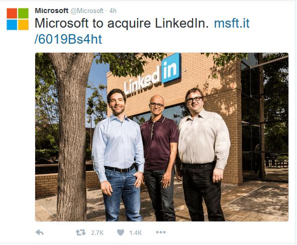 Microsoft to acquire LinkedIn